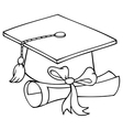 Graduation hat cartoon vector