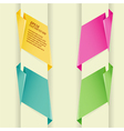 Collect paper origami banner element for design vector