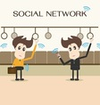 Social network businessman vector