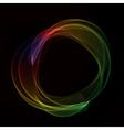Abstract color smoke circle vector