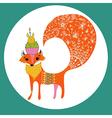 Cartoon color fox vector