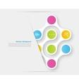 Color circles infographic color molecule vector