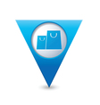 Bags icon map pointer blue vector