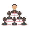 Organization chart with icons of man and women vector