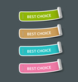 Colorful paper best choice label roll vector