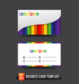 Business card template set 014 colorful rainbow vector