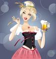Sexy blonde with beer vector
