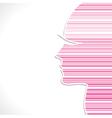 Pink strip women face vector