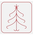 Stylized red christmas tree with star vector