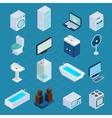 Isometric household appliances vector