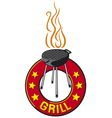 Barbecue grill label - barbecue grill symbol vector