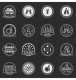 White beer labels or badges set - logos for design vector