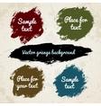 Watercolor splatters vector