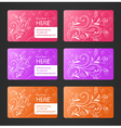 Business cards with floral theme vector