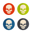 Flat design icons with skulls vector