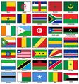 Africa flags set vector