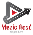 Music road logo vector