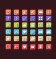 Set of flat icons for mobile app and web vector