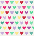 Hearts pattern hearts-with dots and stripes vector