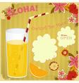 Design menu card for cocktail bar vector