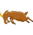 Angry goat cartoon vector