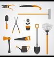 Garden tools icons copy vector