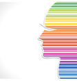 Colorful strip women face vector