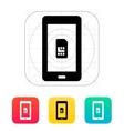 Mobile phone sim card icon vector