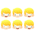 Various facial expressions of kids vector