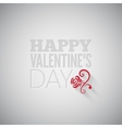 Valentines day flower on gray design background vector