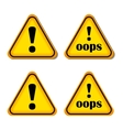 Exclamation sign danger sign oops isolated vector