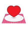 Heart on plate vector