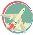 Airplane emblem vector