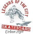 Skateboarding - urban style vector