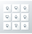 Flat icon set - map pins vector