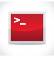 Terminal icon vector