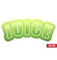 Label for green apple juice bright premium design vector