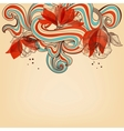 Beautiful romantic floral background vector