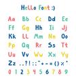 Hello font vector