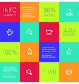 Simple icons on colorful square boxes vector
