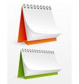 Blank desktop calendars vector