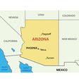 Arizona - map vector