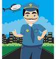 Night patrol police vector