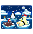 Christmas at the north pole vector