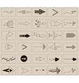 Arrows and icons vector