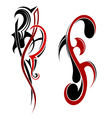 Two tattoo element vector