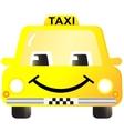 Cartoon smiling taxi car vector