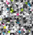 Grunge circles seamless pattern vector