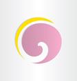 Letter g violet circle wave vector