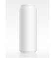 Blank aluminum can vector